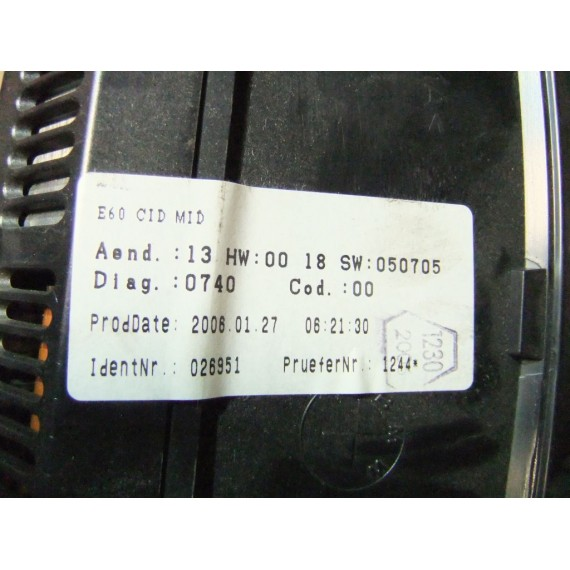 65829193748 Дисплей информационный BMW E60 6.5 дюйма купить в Интернет-магазине