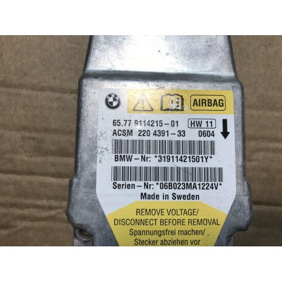 65779114215 Блок управления Airbag BMW E60 купить в Интернет-магазине