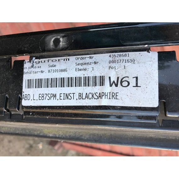 51777837435 Накладка порога левая M BMW E87 купить в Интернет-магазине
